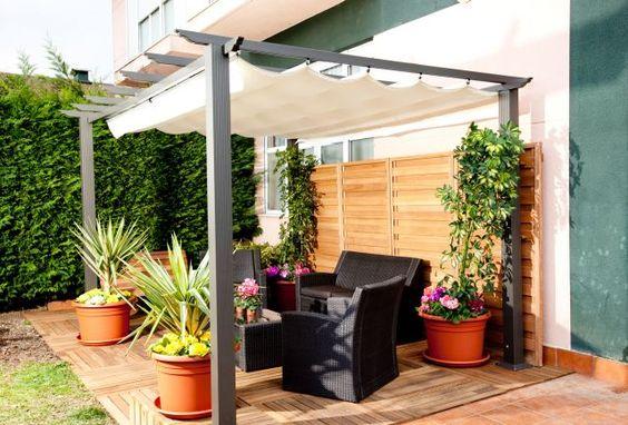 Pergolas ideas and ideas para on pinterest for Jardines para espacios pequenos