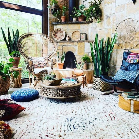 Rug, chair on left (but you aren't wanting rattan and those aren't that comfy), chair on right looks good, love the coffee table: