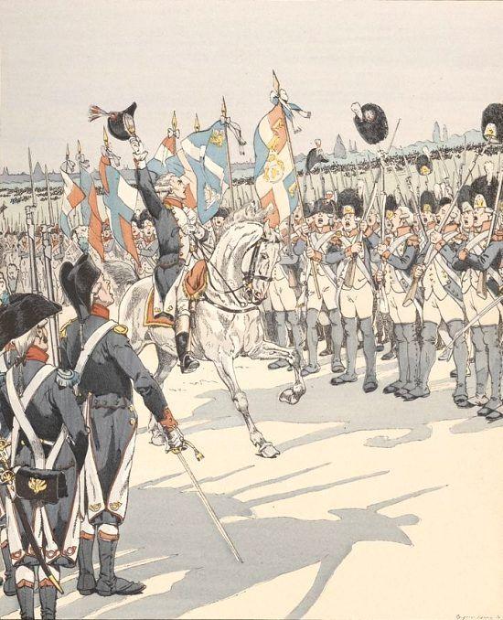La Fayette, chef de la garde nationale, inaugure la cocarde tricolore et  déclare : Cette Cocarde fera le tour du … | French army, French revolution,  Napoleonic wars