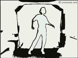 """Mario Strack - """"E-Motion 2"""" 2002 limited Fine Art Print original graphic - www.universal-arts.de"""
