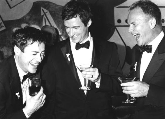 Robert Downey Jr., Hugh Jackman and Sting.