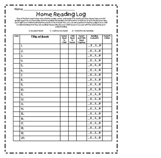 4th grade reading log template - free printable reading logs for elementary students free