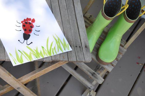 Ladybug kids crafts..so cute!