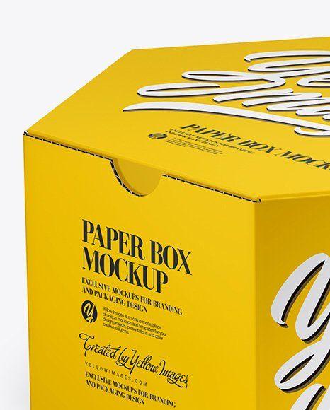 Download Box Packaging Mockup Free Matte Cosmetic Jar With Box Mockup In Jar Mockups On Yellow Images Box Mockup Paper Box Packaging Mockup