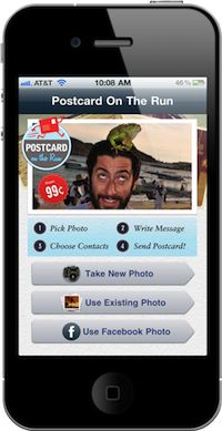 Send a scented postcard from your phone