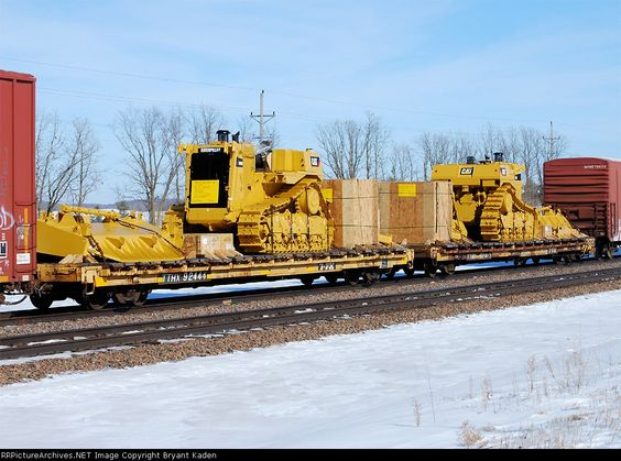 TTHX 92444   Description:  A couple of big Cats on a westbound freight.   Photo Date:  3/13/2009  Location:  Frazee, MN   Author:  Bryant Kaden  Categories:  RollingStock