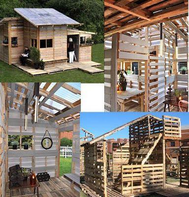 """EL MUNDO DEL RECICLAJE: """"Pallet House"""" o como reciclar 100 palés"""