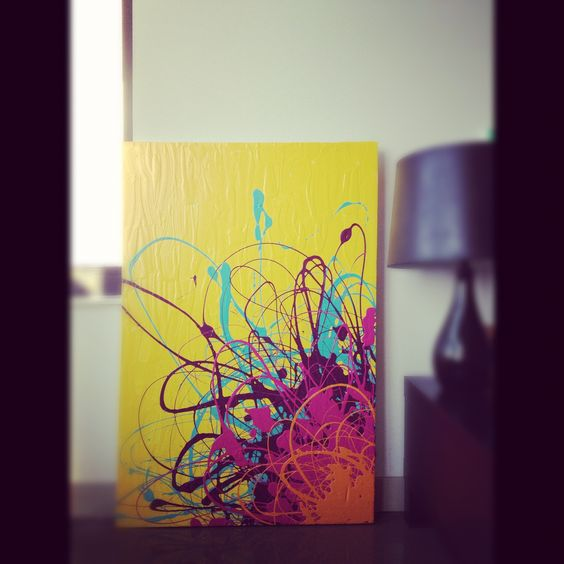 latex on canvas.    SOLD.