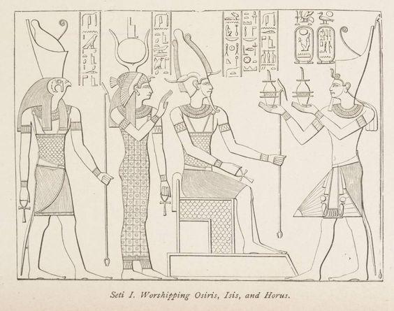 Adorando a Osiris, Isis y Horus