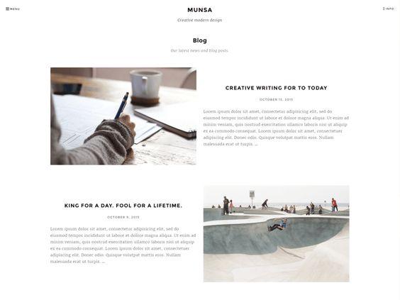 Munsa Lite — gratis WordPress thema's