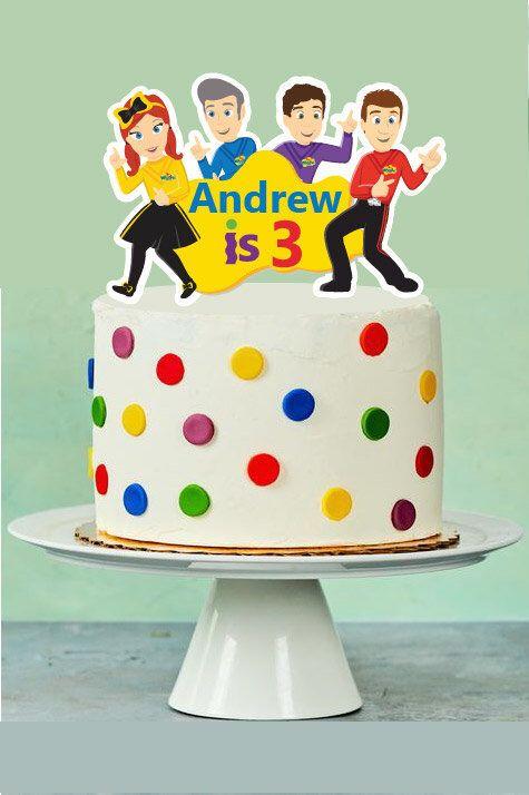 Wondrous Wiggle Birthday Cake Topper Emma Wiggles Customized Birthday Birthday Cards Printable Giouspongecafe Filternl