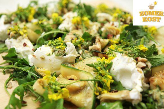 De Italiaanse keuken is er eentje uit de duizend. In de tweede aflevering van Zomerkost deelde kandidate Fran haar recept voor een zomerse salade met burrata, gegrilde groenten en salsa verde. Delizioso!