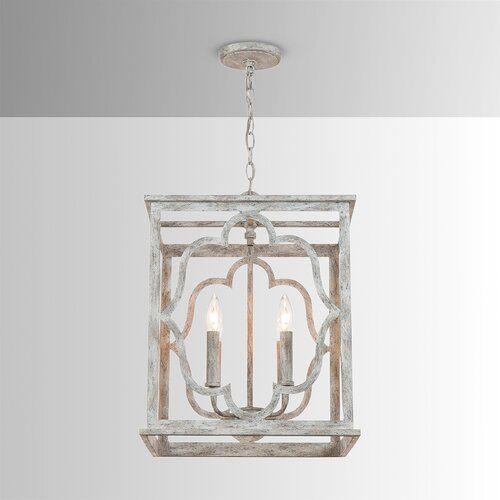 Goodwin 4 Light Lantern Pendant In 2020 Square Chandelier