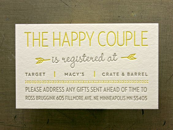 Addressing A Wedding Gift Card : ... gift wrap cute business cards business cards gifts one day all in one