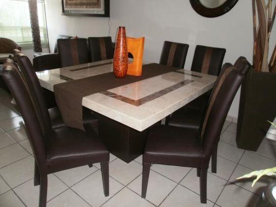 Comedor de marmol espa ol 8 sillas muebles for Precios de comedores en vidrio