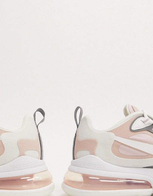 Nike Air Max 270 React Pink And Grey Trainers Asos 2020 Vzuttya