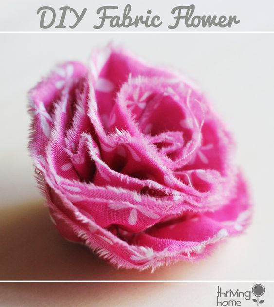 Super easy fabric flower. These can be used for some many creative projects! This tutorial is a staple one to have on hand as a crafter!