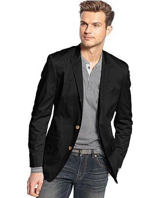 GUESS Jacket Horizon Linen-Blend Blazer - Blazers &amp Sport Coats