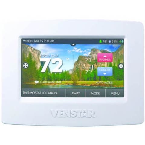 Venstar T7900 Colortouch Thermostat 7 Day Programmable W Wifi Humidity 4 Heat 2 Cool In 2020 Thermostat