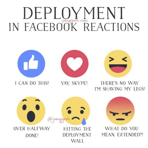 Yaaaaaas. This is totally what deployment is like!