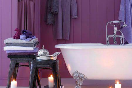 Ein Badezimmer macht Lila Laune