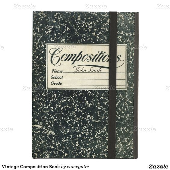 Vintage Composition Book Case For iPad Air