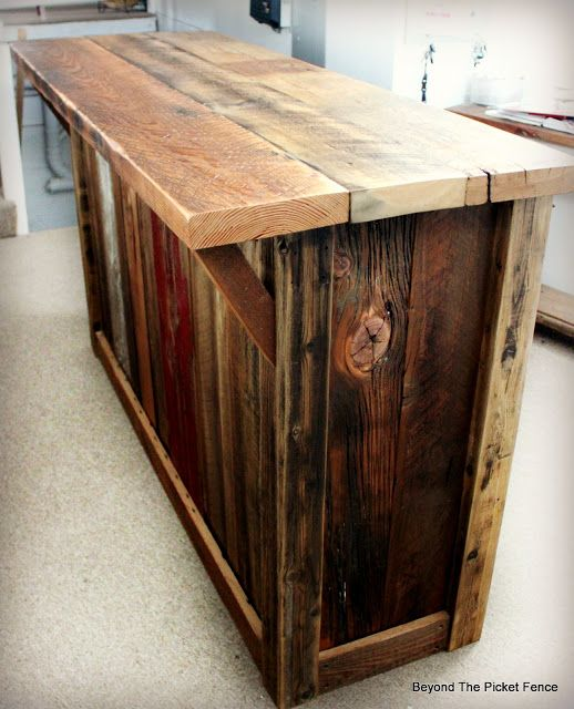 Rustic Barnwood Bar With Images