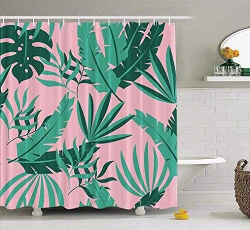 Spxubz Palm Tree Shower Curtain Modern, Palm Tree Shower Curtains Bath Accessory Sets