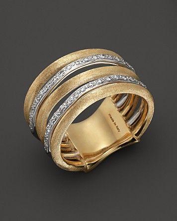 Marco Bicego Diamond Jaipur Link 5-Strand Band Ring   Bloomingdale's