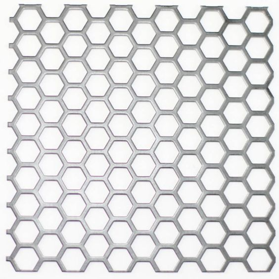 Hexagonal Hole Perforated Mesh For Ventilation And Heat Dissipation Perforated Metal Metal Sheet Decorative Metal Sheets