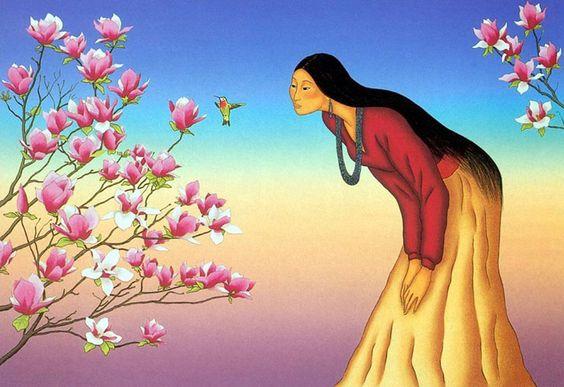 "R.C. Gorman  ""Tulip Tree"""