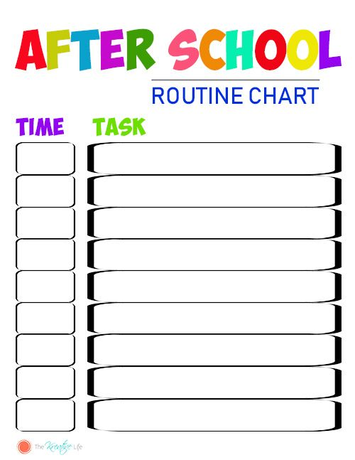 After School Routine And Free Chart Printables The Kreative Life After School Routine Kids Routine Chart School Routines