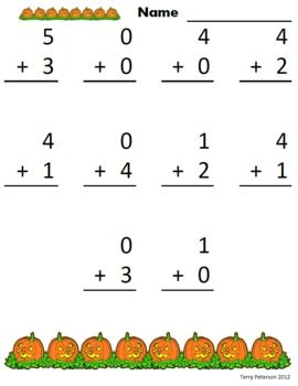 October Halloween Addition & Subtraction Facts Worksheets or Use ...October Halloween Addition & Subtraction Facts Worksheets