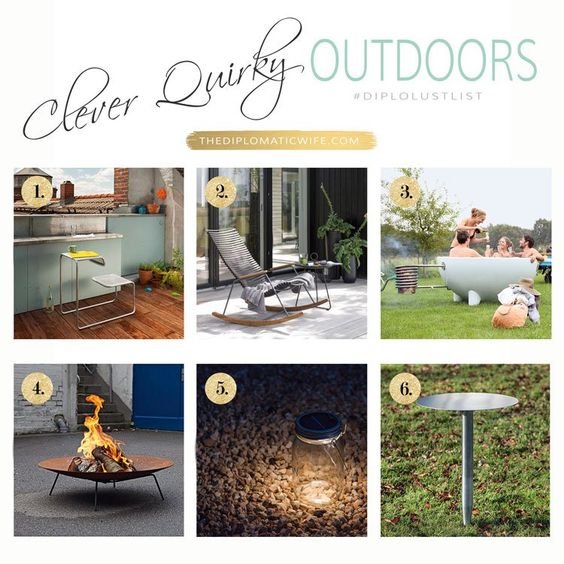 Clever Quirky Outdoor Living pieces perfect for spring and summer!