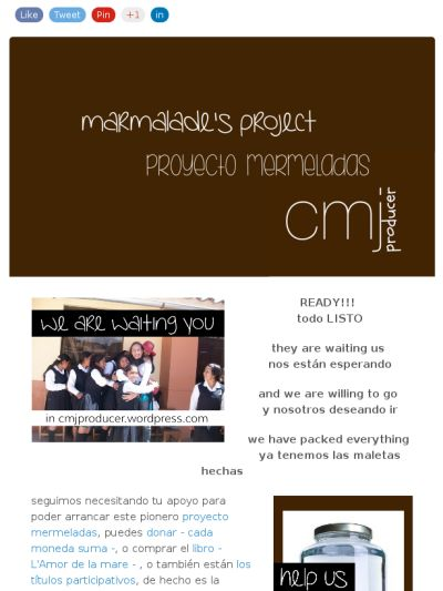 READY we still need  your support... LISTOS seguimos necesitando tu apoyo... Check out this Mad Mimi newsletter