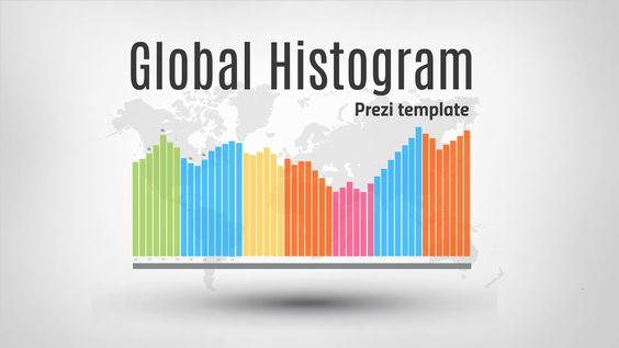 Global Histogram u2013 Prezi template Simple template showing four - histogram template