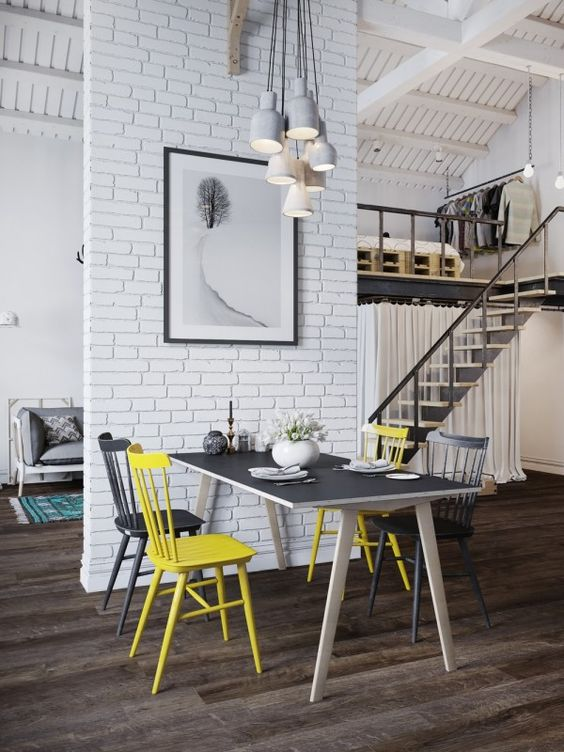 Scandinavian style loft in Prague, Czech Republic / visualizer: Denis Krasikov: