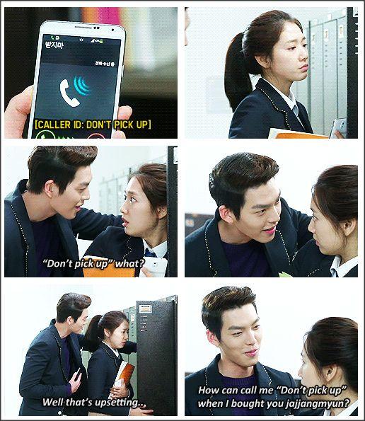 "Kim Woo Bin and Park Shin Hye ♡ #Kdrama - ""HEIRS"" / ""THE INHERITORS"". hahaha.. DON'T PICK UP:"