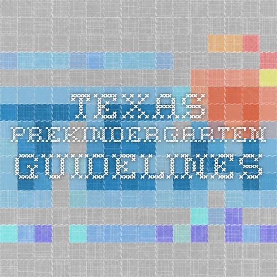 Texas Prekindergarten Guidelines