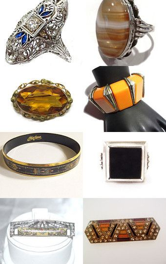 Art Deco Jewelry from VJT by Evelyn Anne on Etsy--Pinned+with+TreasuryPin.com