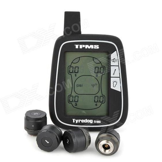 """Tyredog TD1000A-X 2.7 """"LCD Monitor de la presión del neumático Wireless System - Negro"""