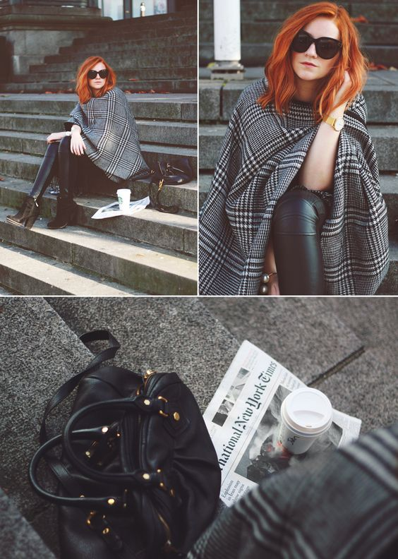 zara_poncho_coat_wool_autumn_herbst_trend_lina_mallon_hahnentritt_monochrome_1