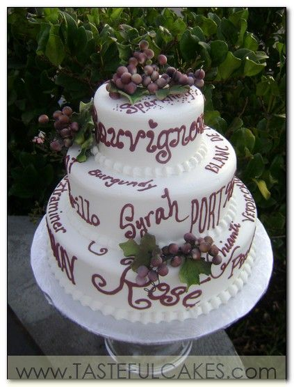 awesome wine themed cake