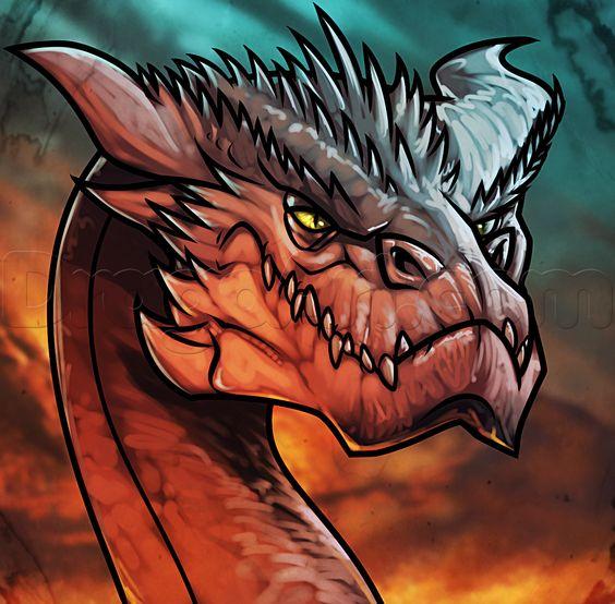 how to draw a dragon head dragoart