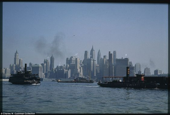 Lower Manhattan from a Jersey City ferry boat, September 27, 1941