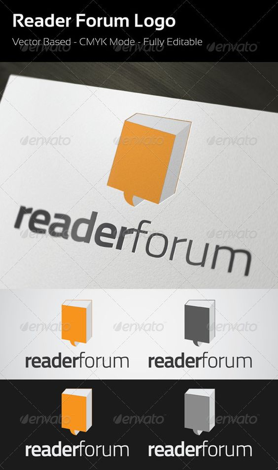 Reader Forum Logo  #GraphicRiver         Reader Forum Logo template.  	 This file contains:  	 CMYK 100% vector AI, EPS files Fully editable Free Font used for this logo is TitilliumText –  .fontsquirrel /fonts/TitilliumText     Created: 25October12 GraphicsFilesIncluded: VectorEPS #AIIllustrator Layered: No MinimumAdobeCSVersion: CS Resolution: Resizable Tags: book #brand #branding #community #creative #creativity #ebook #forum #identity #logo #logotype #reader