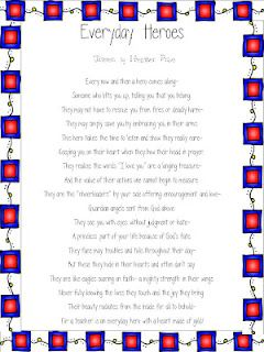 Everyday  Heroes - Teachers poem