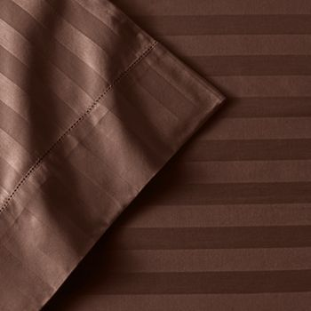 Croft and Barrow Damask Striped Sheet Set - King