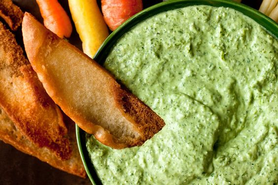 This Greek goddess dip is stunningly verdant and has a bright herby flavor. The Greek strain in this dressing comes from using dill in place of watercress. Make it and watch it do a disappearing act on vegetables, pita chips or whatever conduit you can dream up. (Photo: Andrew Scrivani for The New York Times)