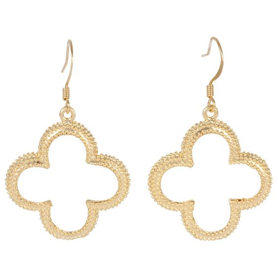 Kirra Tate Gold Clover Earrings